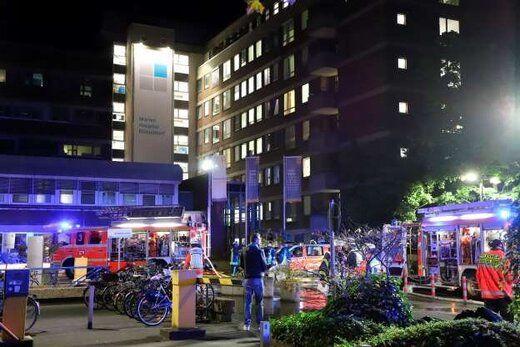 سوختن یک بیمارستان در آتش