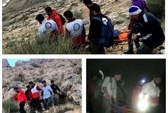 نجات زن سرگردان در ارتفاعات