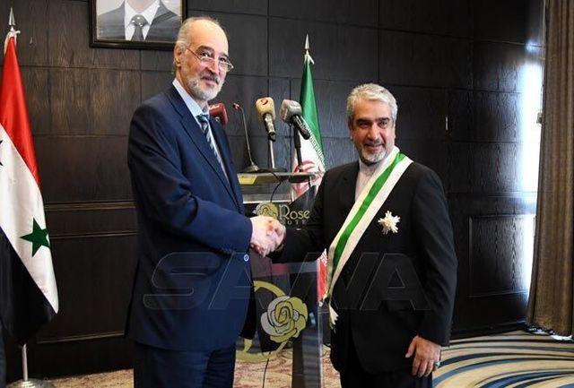 اعطای نشان عالی سوریه به سفیر جمهوری اسلامی ایران