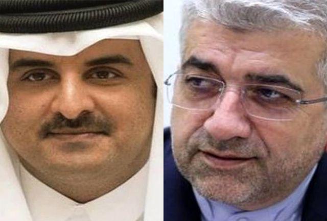 تحویل پیام رئیس جمهوری اسلامی ایران به امیر قطر