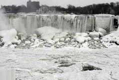 آبشار نیاگارا یخ زد / ببینید