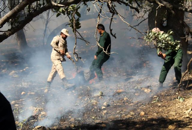 مهار دومین آتش سوزی جنگل های یاسوج توسط نیروهای تیپ ۴۸ فتح