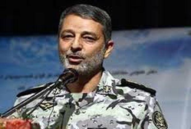 توضیحات فرمانده کل ارتش درباره انهدام پهپاد متجاوز