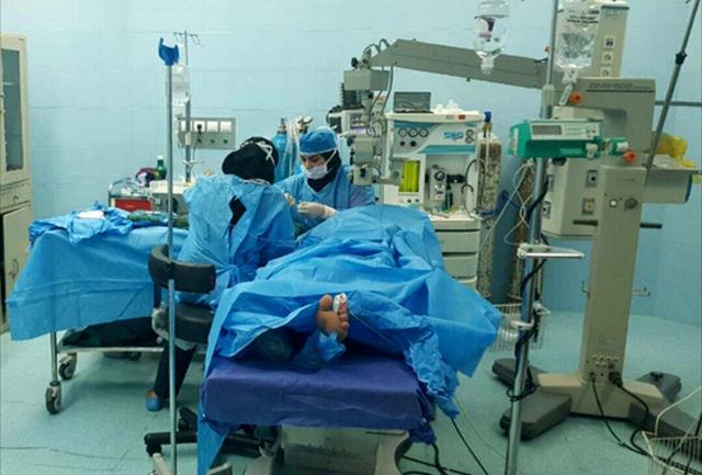 انجام اولین عمل جراحی چشم در بیمارستان ولایت شهرستان مرزی سرباز