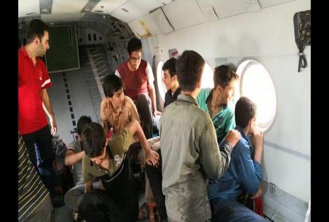 تصاویر 9 دانش آموز نجات یافته از سد لتیان