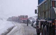 لغزندگی شدید جادهها در پی بارش برف و باران