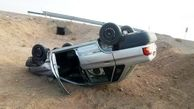 مرگ سه تن در واژگونی وحشتناک خودرو در آزادگان