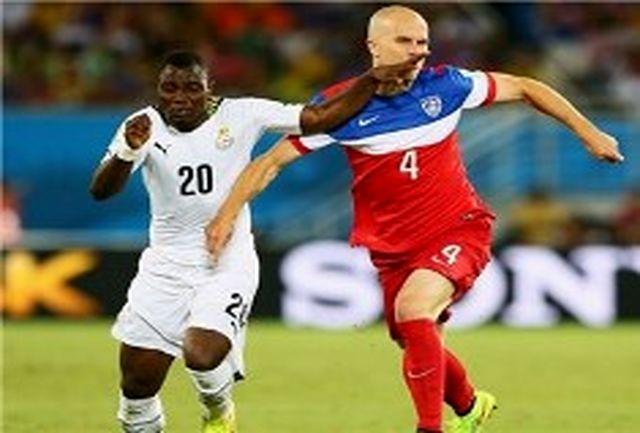 پیروزی آمریکا مقابل غنا