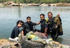 پاکسازی بستر رودخانه دز در دزفول