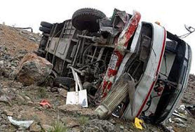 واژگونی اتوبوس در محور رشت-آستارا یک کشته برجا گذاشت