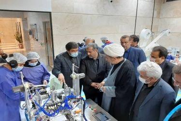واحد تولیدی ماسک پزشکی در کاسپین قزوین افتتاح شد