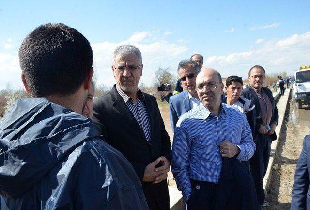 بازدید مدیر عامل شرکت مهندسی آب فاضلاب کشور از مناطق سیل زده استان آذربایجان غربی
