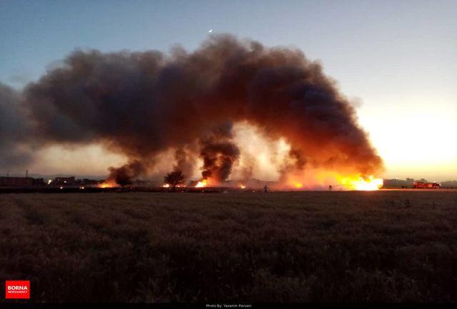 مهار آتش گردنه حیران در داخل مرز ایران