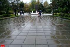 بارش باران و رعد و برق در گیلان