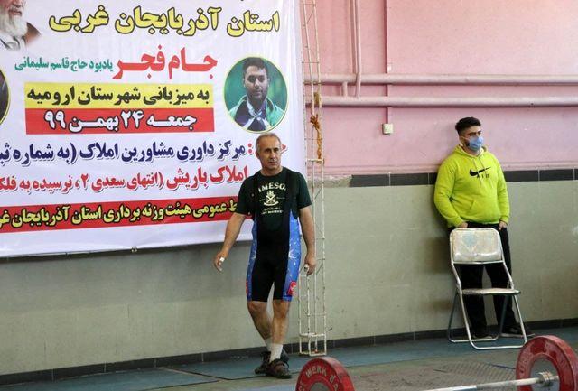مهاباد بر سکوی اول مسابقات وزنه برداری دهه فجر ایستاد