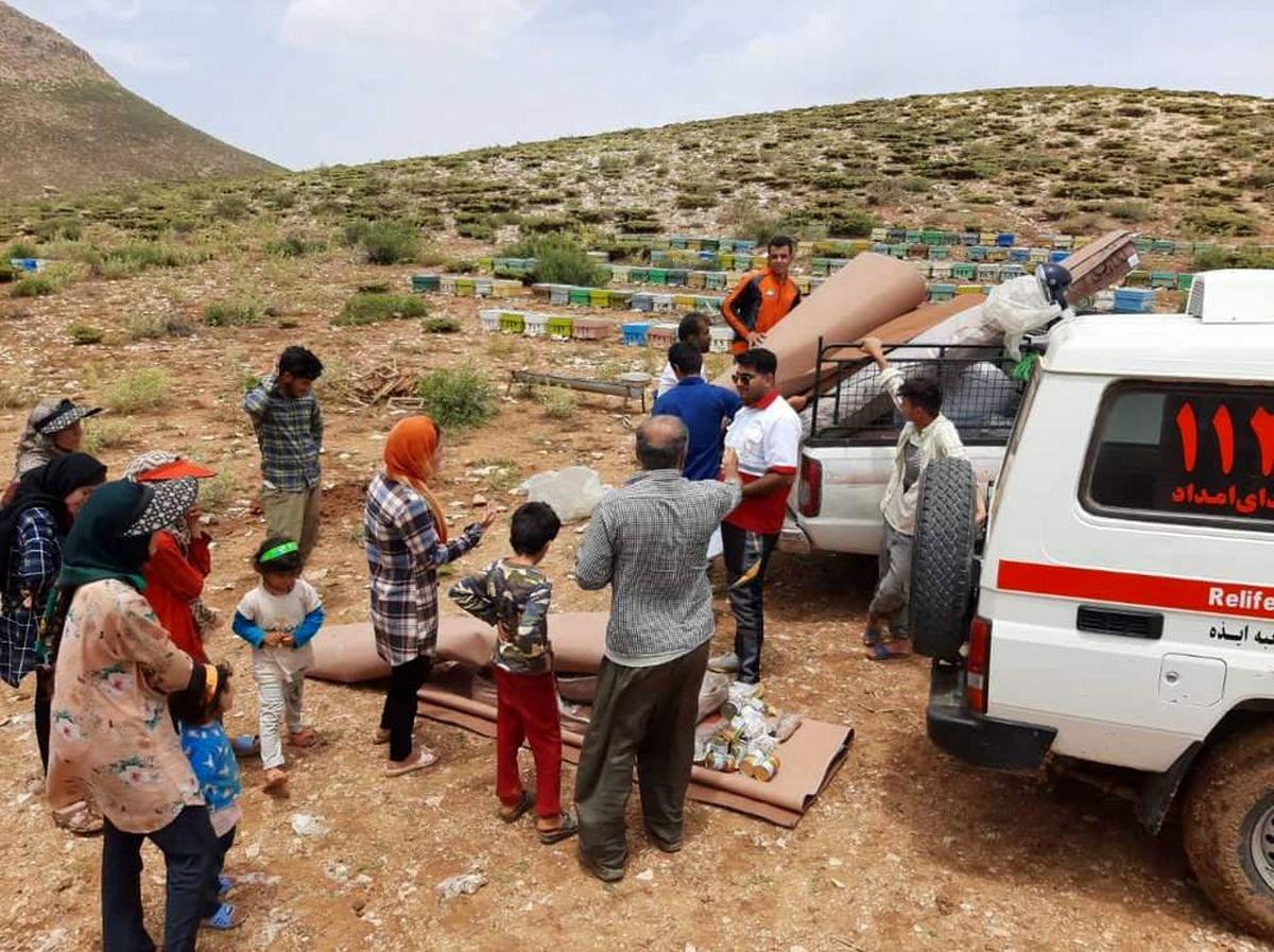 طوفان در ایذه و باغملک/ هلال احمر خوزستان ۱۱۱ خانوار را امدادرسانی کرد