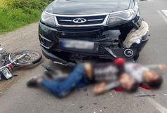 2 کشته در برخورد موتورسیکلت با خودرو سواری