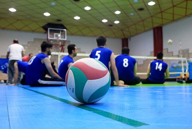 دیدار دوستانه تیم ملیوالیبالنشسته ایران با تیم روسیه