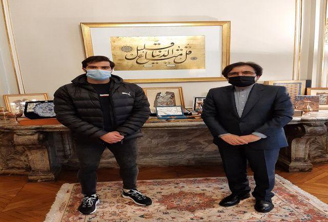 حسن تفتیان با سفیر ایران در فرانسه دیدار کرد
