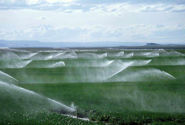 تجهیز 570 هکتار از اراضی به سیستم آبیاری نوین