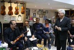 حضور کیوان ساکت موسیقی دان و آهنگساز برجسته کشور در کیش
