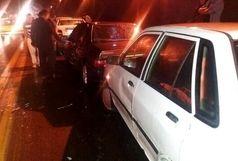 تصادف زنجیرهای 10 خودرو در کهگیلویه و بویر احمد