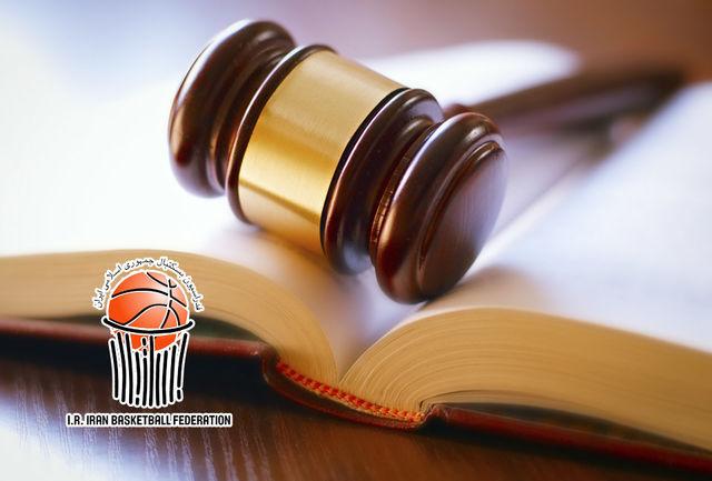 سرمربی و بازیکن تیم بسکتبال هیرو تهران محروم شدند