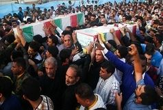 تشییع جان باختگان حادثه اتوبوس دانش آموزان در نظرآباد
