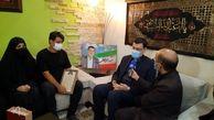 دیدار رئیس بنیاد شهید با خانواده شهید مدافع سلامت «احمد داستانی»