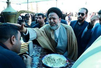 حضور صمیمانه وزیر اطلاعات در شلمچه