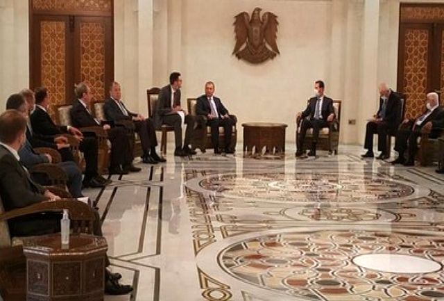 دیدار هیات عالیرتبه روس با بشار اسد در دمشق
