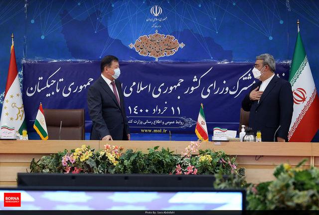 تفاهم نامه امنیتی خوبی میان ایران و تاجیکستان منعقده شده است