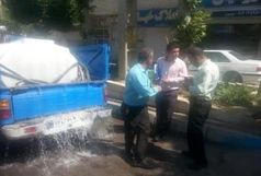 توقیف دو خودروی آب فروش توسط امور منابع آب دماوند