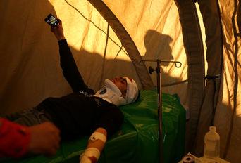 عملیات تمرینی تیم های بهداشت و درمان اضطراری در بویین زهرا