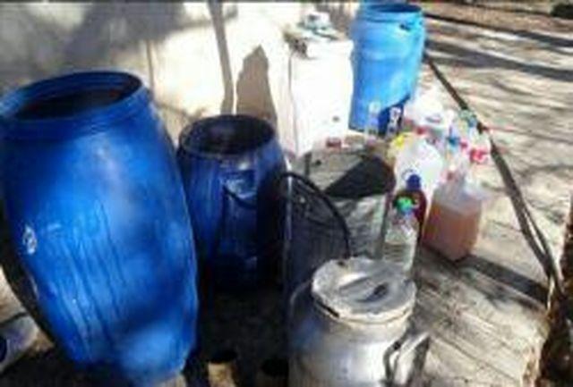 انهدام کارگاه ساخت مشروبات الکلی در روستای گرو صالحی میناب