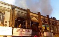 آتش به جان همسایههای پلاسکو افتاد/چهارراه استانبول در آتش سوخت!+ عکس