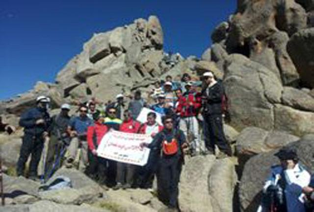 کوهنوردان چرداولی به قله 3574 متری الوند صعود کردند