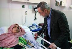 عیادت سید محمد بطحایی از معلم مصدوم البرزی