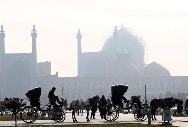 هوای اصفهان همچنان در وضعیت ناسالم