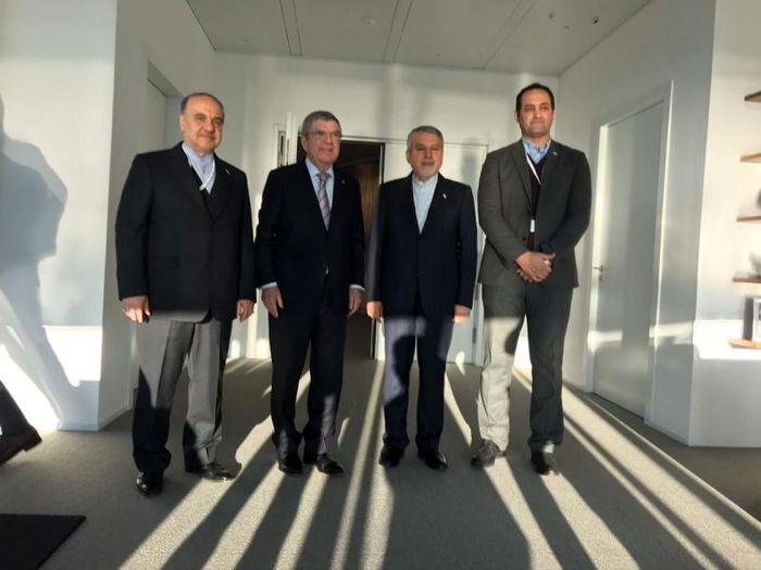 نشست وزیر ورزش و جوانان با رییس کمیته بینالمللی المپیک/ باخ: از ورزش ایران حمایت میکنیم