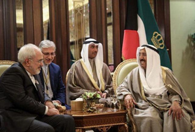 دیدار ظریف با امیر کویت