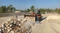 رفع تصرف 3700 مترمربع از اراضی ملی و دولتی در جزیره قشم
