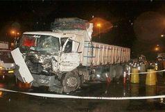 سه مصدوم حاصل تصادف زنجیره ای در اتوبان قزوین -تهران