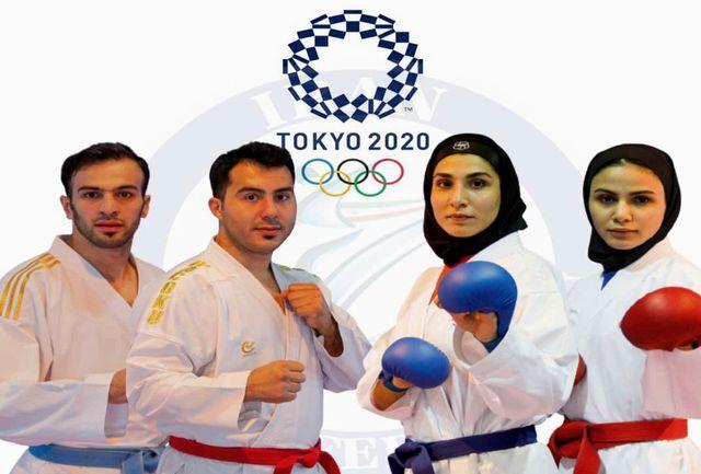 برای چهار نماینده کاراته ایران جواز حضور در المپیک از طریق رنکینگ صادر شد