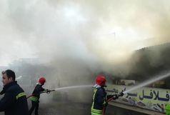 آتش سوزی چهار باب مغازه در میدان تپه+ببینید