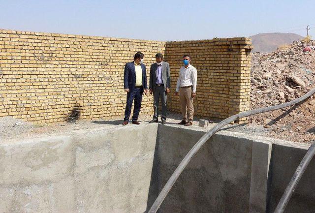 احداث استخر ذخیره آب در بام نهاوند توسط شهرداری