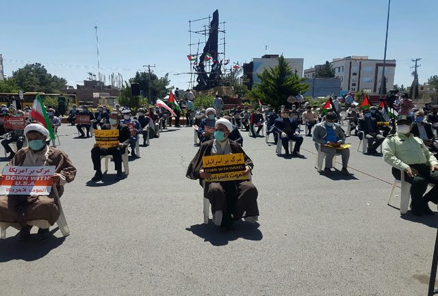 تجمع مردم بیرجند در حمایت از مردم مظلوم فلسطین