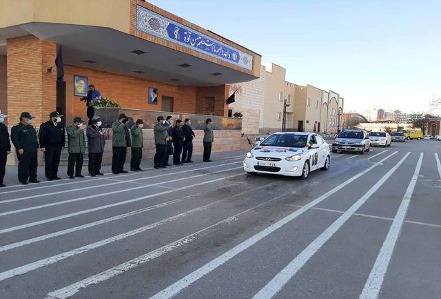 کاروان اتومبیلرانی از قزوین عازم مزار شهید سلیمانی شد