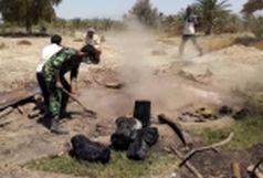 کشف و تخریب  یک  باب کوره ذغال  غیر مجاز  در بندرعباس