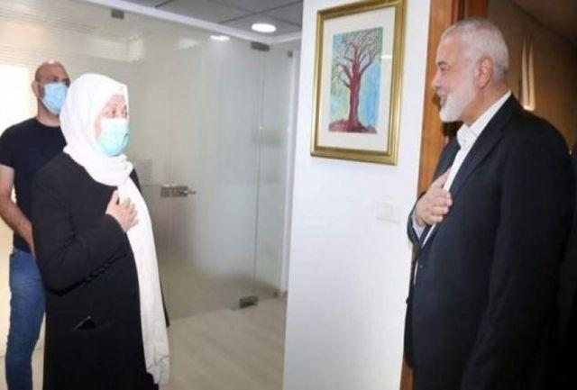 «هنیه» با نماینده جریان المستقبل لبنان دیدار کرد